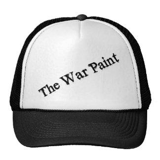 """Gorra del texto del negro """"de la pintura de guerra"""