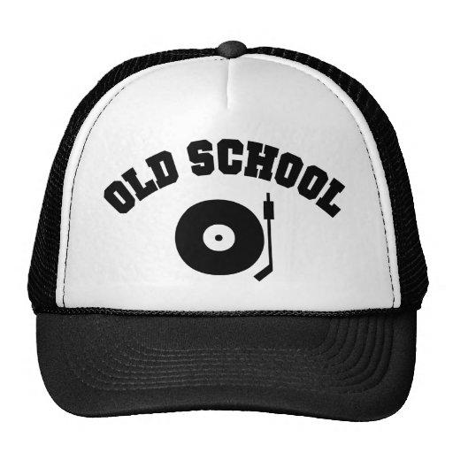 Gorra del tocadiscos de DJ de la escuela vieja