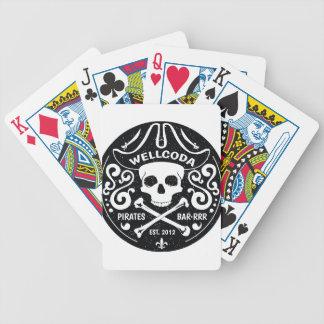 Gorra del traje de la barra del pirata de la ropa baraja cartas de poker