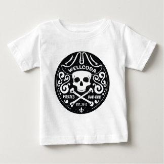 Gorra del traje de la barra del pirata de la ropa camiseta de bebé