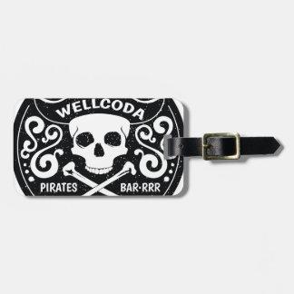 Gorra del traje de la barra del pirata de la ropa etiquetas para maletas