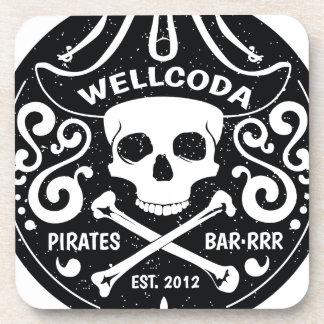 Gorra del traje de la barra del pirata de la ropa posavasos