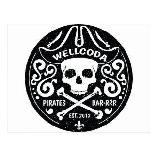 Gorra del traje de la barra del pirata de la ropa postal