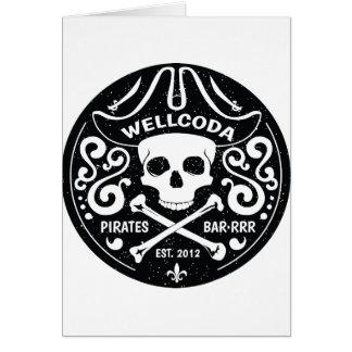 Gorra del traje de la barra del pirata de la ropa tarjeta de felicitación