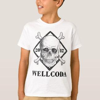 Gorra del traje del cráneo del pirata de la ropa camiseta
