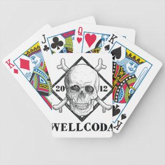 Gorra del traje del cráneo del pirata de la ropa cartas de juego