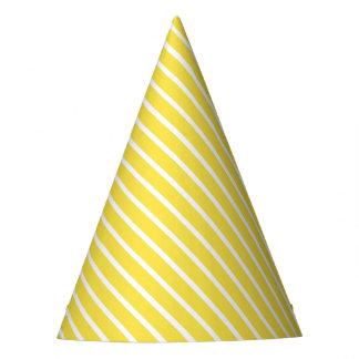 Gorra diagonal amarillo del fiesta de la raya del