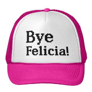 Gorra divertido del camionero del pixel de Felicia