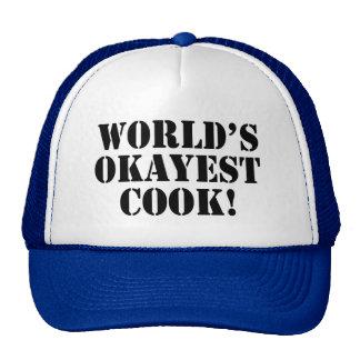 Gorra divertido del cocinero de Okayest del mundo