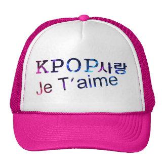 Gorra el 100% del camionero del kpop del amor del