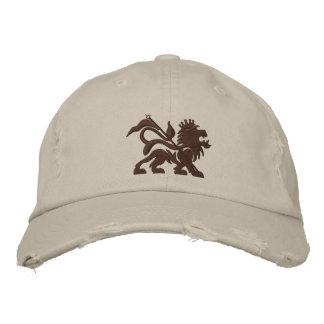 gorra emboidered león de la toba volcánica del jah gorra bordada