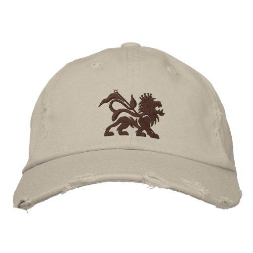 gorra emboidered león de la toba volcánica del jah gorra de beisbol