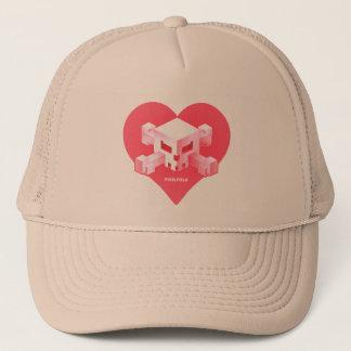 Gorra en forma de corazón del logotipo del juego