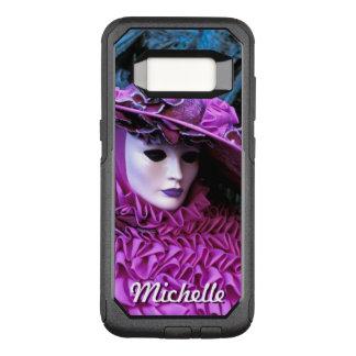Gorra enmascarado de señora With Purple Peach Funda Otterbox Commuter Para Samsung Galaxy S8