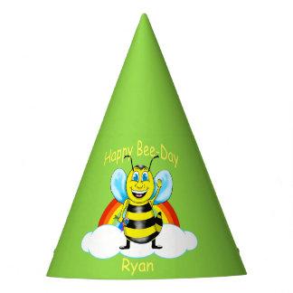 Gorra feliz del cumpleaños de la abeja