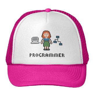 Gorra femenino del programador del pixel