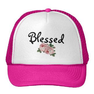 Gorra floral bendecido del camionero