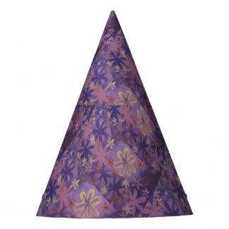gorra floral púrpura del fiesta