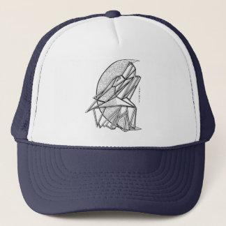 Gorra geométrico del camionero del lobo