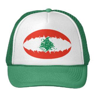 Gorra Gnarly de la bandera de Líbano