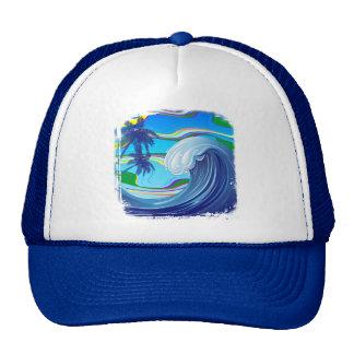 Gorra grande del camionero del agua de la onda del