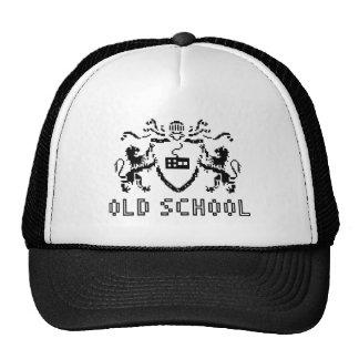 Gorra heráldico de la escuela vieja del pixel