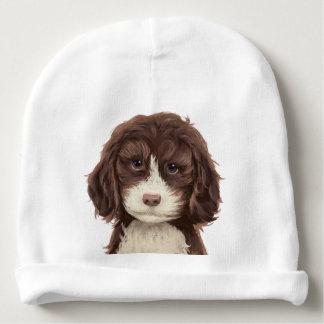 Gorra hermoso de las pinturas del perrito del gorrito para bebe