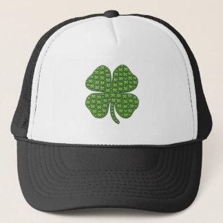 Gorra irlandés afortunado del camionero del trébol