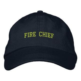 Gorra Jefe-Bordado fuego Gorra De Béisbol