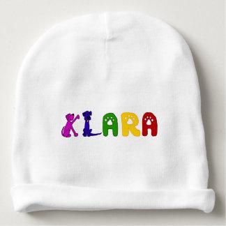 Gorra lindo del bebé con el nombre de Klara Gorrito Para Bebe