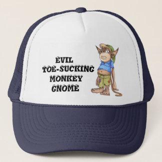 Gorra malvado del camionero del gnomo del mono