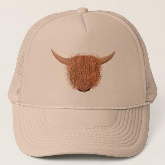 Gorra melenudo del camionero de la vaca de la