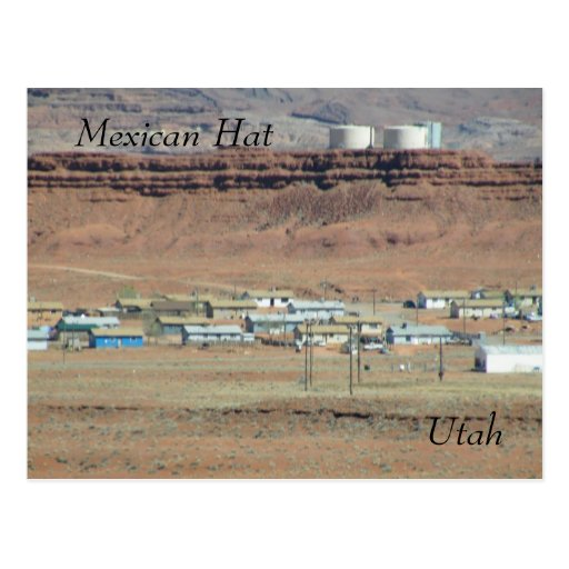 Gorra mexicano tarjeta postal