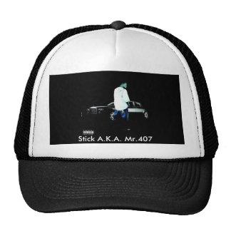 Gorra negro/blanco, palillo A.K.A. Mr.407