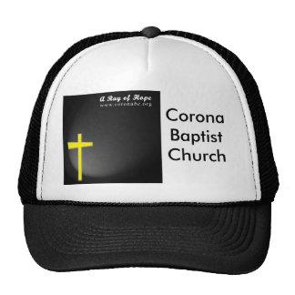 Gorra negro de la iglesia baptista de la corona