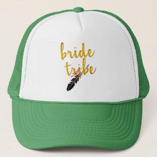 gorra nupcial del boda del purpurina de oro de la