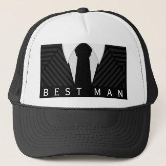 Gorra o casquillo del hombre de la despedida de