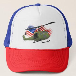 Gorra patriótico del camionero de UH-1 Huey