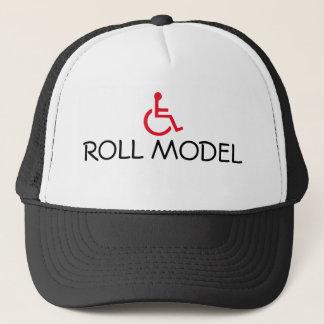 Gorra perjudicado silla de ruedas modelo del