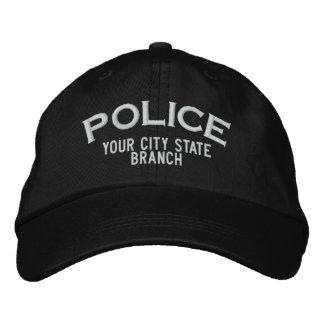 Gorra personalizado de la policía gorra de béisbol bordada