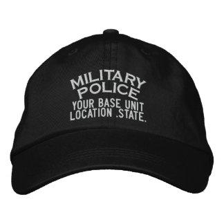 Gorra personalizado de la policía militar gorra bordada