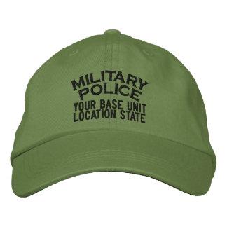 Gorra personalizado de la policía militar gorra de béisbol bordada