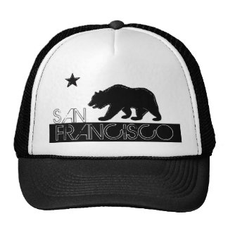 Gorra plano del oso negro de San Francisco Califor