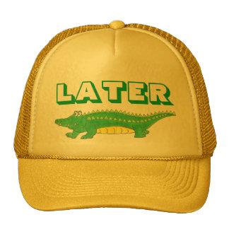 Gorra posterior del cocodrilo del amarillo del