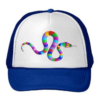 Gorra psicodélico del arco iris de la serpiente
