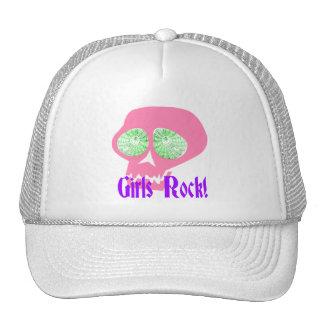 Gorra punky del cráneo de la roca de los chicas