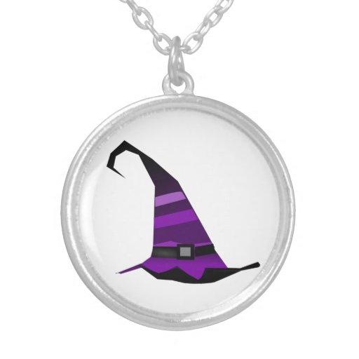 Gorra púrpura de las brujas de Halloween Colgantes Personalizados