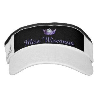 Gorra púrpura del visera de la corona de Srta.