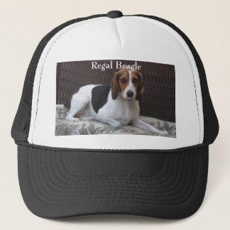 Gorra real del perro de caza del beagle