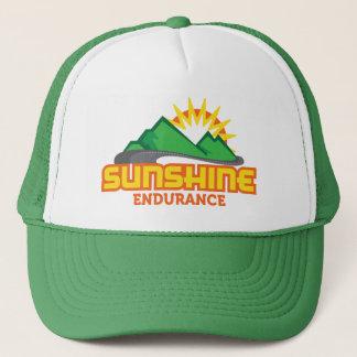 Gorra retro del camionero del logotipo del verde